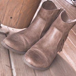 Light Brown Booties worn twice